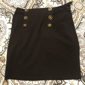 Adrienne Vittadini Black Pencil Skirt